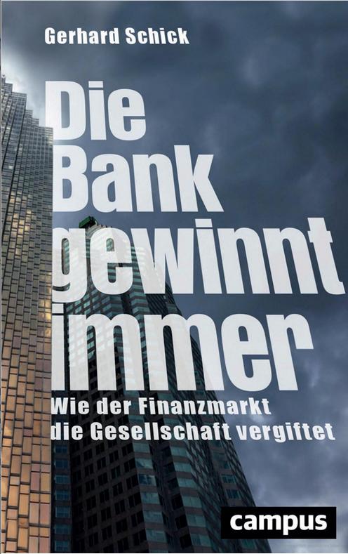 """Umschlagseite """"Die Bank gewinnt immer"""""""
